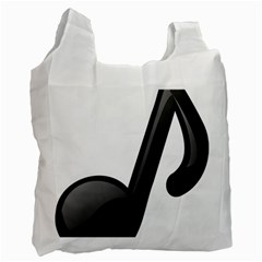 Music Note  Recycle Bag (one Side)