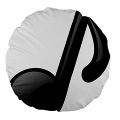 Music Note  Large 18  Premium Flano Round Cushions