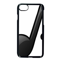 Music Note  Apple Iphone 8 Seamless Case (black)