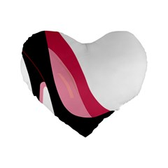 Black Stiletto Heels Standard 16  Premium Heart Shape Cushions by StarvingArtisan