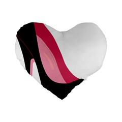Black Stiletto Heels Standard 16  Premium Flano Heart Shape Cushions by StarvingArtisan