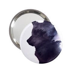 Black Wolf  2 25  Handbag Mirrors