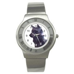 Black Wolf  Stainless Steel Watch