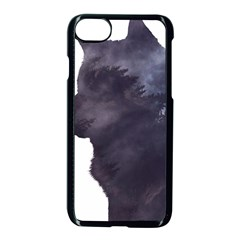 Black Wolf  Apple Iphone 8 Seamless Case (black) by StarvingArtisan