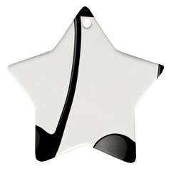 Music Note Star Ornament (two Sides)