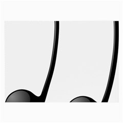 Music Note Large Glasses Cloth (2 Side)