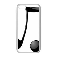 Music Note Apple Iphone 5c Seamless Case (white)