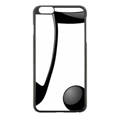 Music Note Apple Iphone 6 Plus/6s Plus Black Enamel Case by StarvingArtisan