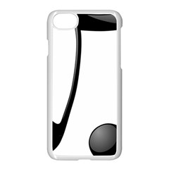 Music Note Apple Iphone 8 Seamless Case (white)