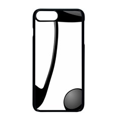 Music Note Apple Iphone 8 Plus Seamless Case (black)