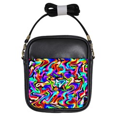 Artwork By Patrick Colorful 40 Girls Sling Bags by ArtworkByPatrick