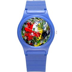 Bow Of Scorpio Before A Butterfly 2 Round Plastic Sport Watch (s) by bestdesignintheworld