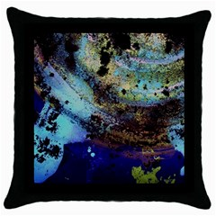 Blue Options 3 Throw Pillow Case (black) by bestdesignintheworld