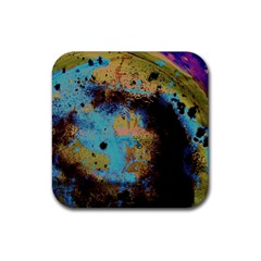 Blue Options 5 Rubber Coaster (square)  by bestdesignintheworld