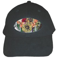 Sunflowers And Lamp Black Cap by bestdesignintheworld