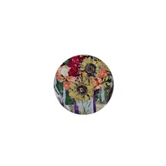 Sunflowers And Lamp 1  Mini Buttons by bestdesignintheworld