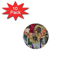 Sunflowers And Lamp 1  Mini Buttons (10 Pack)  by bestdesignintheworld
