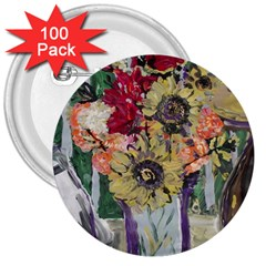 Sunflowers And Lamp 3  Buttons (100 Pack)  by bestdesignintheworld
