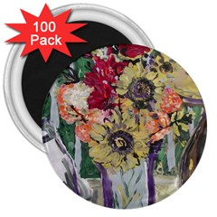 Sunflowers And Lamp 3  Magnets (100 Pack) by bestdesignintheworld
