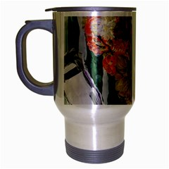 Sunflowers And Lamp Travel Mug (silver Gray) by bestdesignintheworld