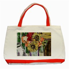 Sunflowers And Lamp Classic Tote Bag (red) by bestdesignintheworld