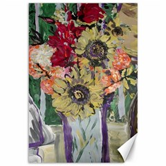 Sunflowers And Lamp Canvas 12  X 18   by bestdesignintheworld