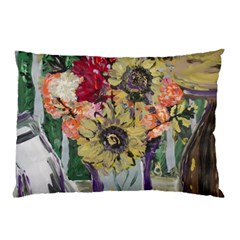 Sunflowers And Lamp Pillow Case by bestdesignintheworld