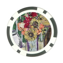 Sunflowers And Lamp Poker Chip Card Guard (10 Pack) by bestdesignintheworld