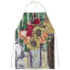 Sunflowers And Lamp Full Print Aprons by bestdesignintheworld