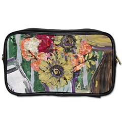 Sunflowers And Lamp Toiletries Bags by bestdesignintheworld