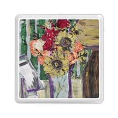 Sunflowers And Lamp Memory Card Reader (square)  by bestdesignintheworld
