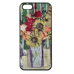 Sunflowers And Lamp Apple Iphone 5 Seamless Case (black) by bestdesignintheworld