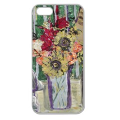 Sunflowers And Lamp Apple Seamless Iphone 5 Case (clear) by bestdesignintheworld