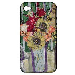 Sunflowers And Lamp Apple Iphone 4/4s Hardshell Case (pc+silicone) by bestdesignintheworld