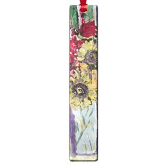 Sunflowers And Lamp Large Book Marks by bestdesignintheworld