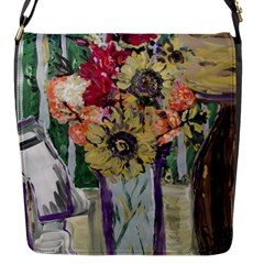 Sunflowers And Lamp Flap Messenger Bag (s) by bestdesignintheworld