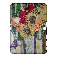 Sunflowers And Lamp Samsung Galaxy Tab 4 (10 1 ) Hardshell Case  by bestdesignintheworld