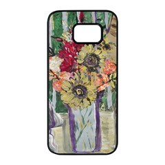 Sunflowers And Lamp Samsung Galaxy S7 Edge Black Seamless Case by bestdesignintheworld