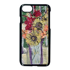 Sunflowers And Lamp Apple Iphone 8 Seamless Case (black) by bestdesignintheworld