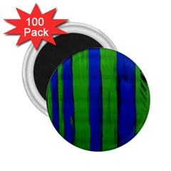 Stripes 2 25  Magnets (100 Pack)  by bestdesignintheworld