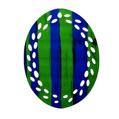 Stripes Ornament (oval Filigree) by bestdesignintheworld