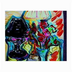 Still Life With Two Lamps Small Glasses Cloth (2 Side) by bestdesignintheworld