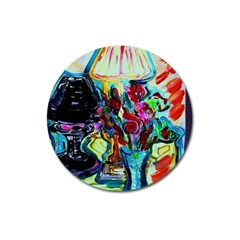 Still Life With Two Lamps Magnet 3  (round) by bestdesignintheworld