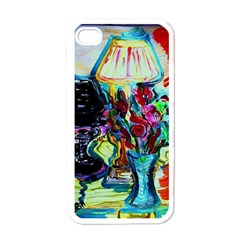 Still Life With Two Lamps Apple Iphone 4 Case (white) by bestdesignintheworld