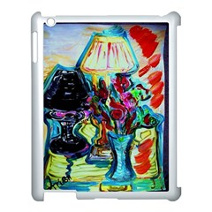 Still Life With Two Lamps Apple Ipad 3/4 Case (white) by bestdesignintheworld
