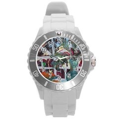 Still Life With Tangerines And Pine Brunch Round Plastic Sport Watch (l) by bestdesignintheworld