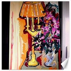 Still Life With Lamps And Flowers Canvas 12  X 12   by bestdesignintheworld