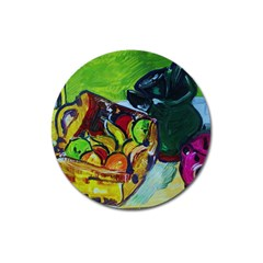 Still Life With A Pigy Bank Magnet 3  (round) by bestdesignintheworld