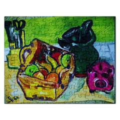 Still Life With A Pigy Bank Rectangular Jigsaw Puzzl by bestdesignintheworld