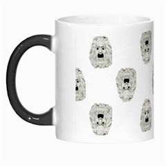 Angry Theater Mask Pattern Morph Mugs by dflcprints